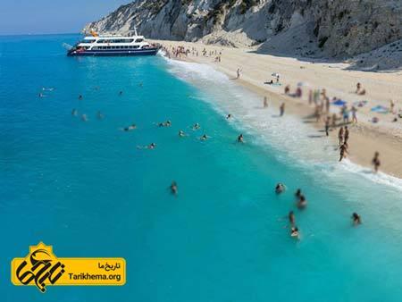 عکس زیباترین سواحل با آبهای فیروزهای,سواحل زیبا,سواحل یونان Tarikhema.org
