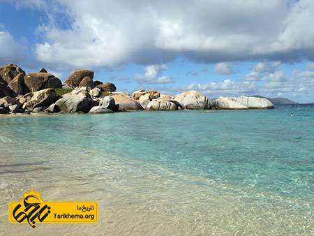 عکس زیباترین سواحل با آبهای فیروزهای,سواحل زیبا,جزایر بریتیش ویرجین Tarikhema.org
