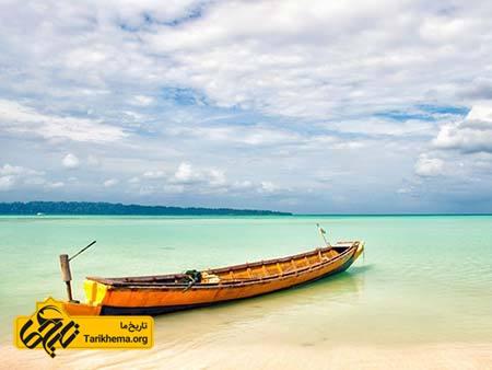 عکس زیباترین سواحل با آبهای فیروزهای,سواحل زیبا,جزیره هاولاک Tarikhema.org