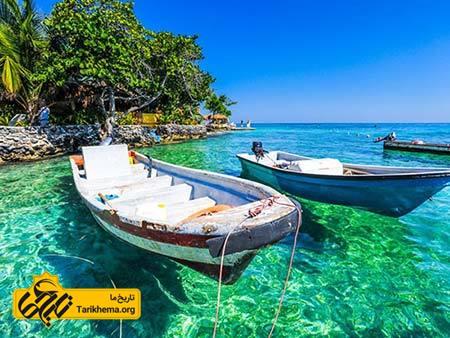 عکس زیباترین سواحل با آبهای فیروزهای,سواحل زیبا,کلمبیا Tarikhema.org