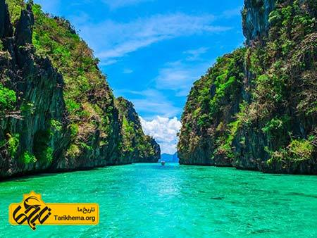 عکس زیباترین سواحل با آبهای فیروزهای,سواحل زیبا,پالاوان Tarikhema.org
