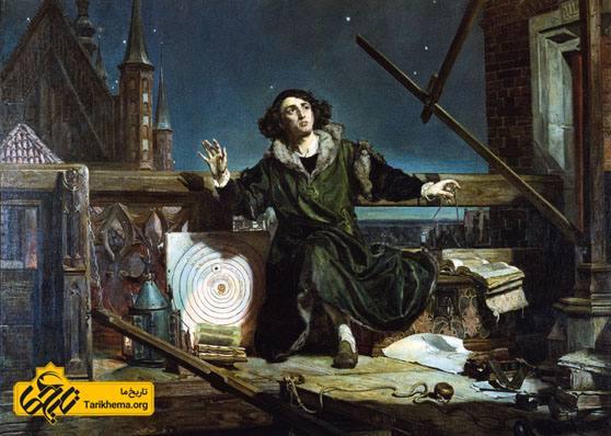 عکس کپرنیک ستارهشناس، ریاضیدان و اقتصاددانی لهستانی بود که نظریه خورشید مرکزی منظومه شمسی را گسترش داد و به صورت علمی درآورد. نظریهٔ انقلابی کوپرنیک یکی از درخشانترین مستندسازیهای عصر رنسانس است که نه فقط آغازگر ستارهشناسی نوین بود، بلکه دیدگاه بشر را دربارهٔ جهان هستی دگرگون کرد. Tarikhema.org