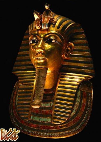 ماسک زیبای توتان خامون فرعون مصر باستان