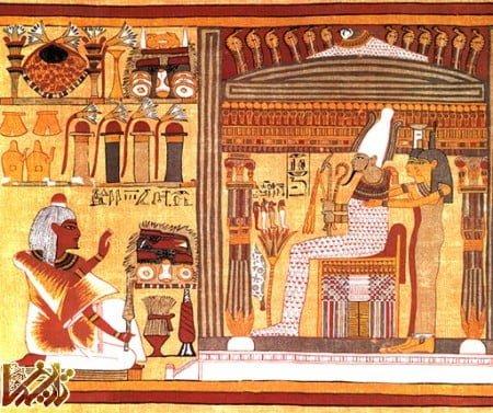 ازیریس آورنده خوشبختی و فراوانی برای مصریان