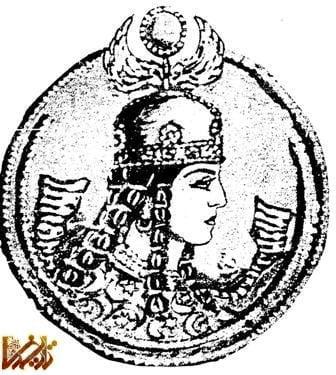 سکه بانوی ساسانی