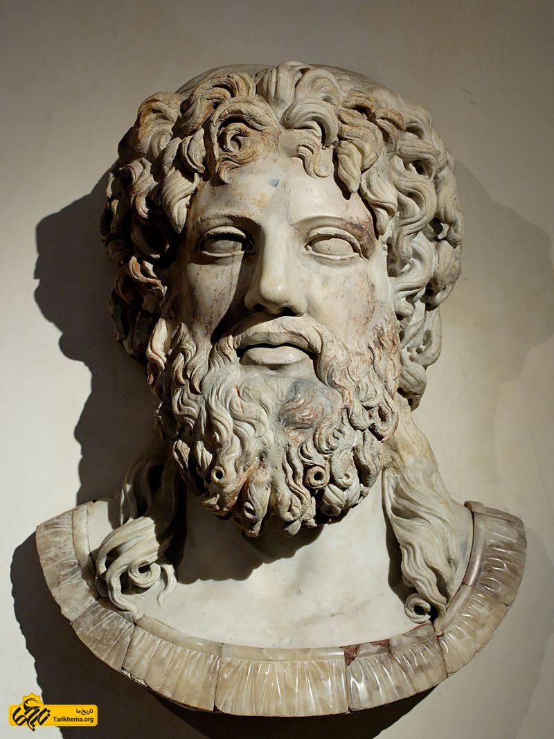 عکس زئوس (به یونانی: Ζεύς) در اساطیر یونانی، پادشاه خدایان و فرمانروای تمام زیارتگاههای واقع در کوه المپ است. about-zeus Tarikhema.org