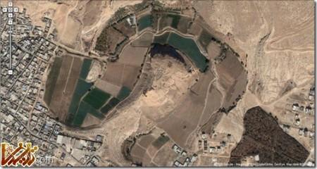 تخت ابونصر تصویر هوایی از گوگل مپ
