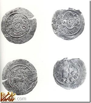سکه های ساسانی کشف شده در محوطه باستانی ابونصر