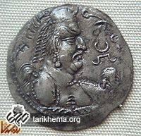 سکهای با نقش یکی از شاهان هپتالی