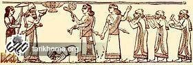 شاه یهودیه اسرائیل در حال خاکبوسی در پیش شلمانسر سوم آشور.