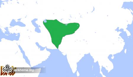 قلمرو هپتالیان، در حدود سال ۵۰۰ میلادی