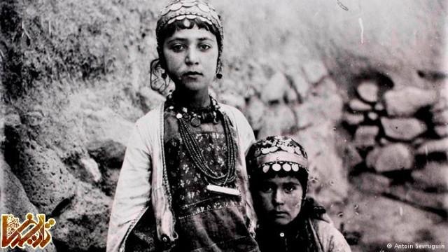 دو دختر از عشایر ایل شاهسون بیش از صد و بیست سال قبل