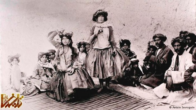 رقاصان و نوازندگان کرد در زمان قاجار