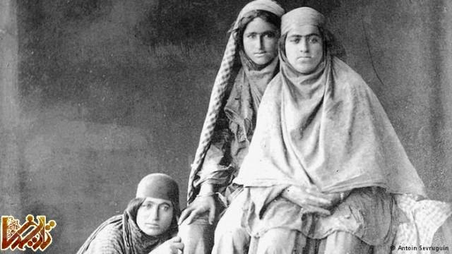 سه دختر از عشایر ایران در اواخر دوران قاجار