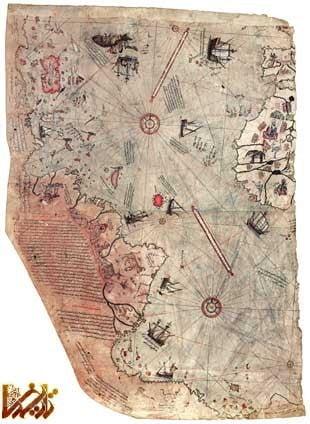 نقشه هایی که مسلمانان قبل از ورود کلمب به آمریکا از این قاره کشیده بودند!