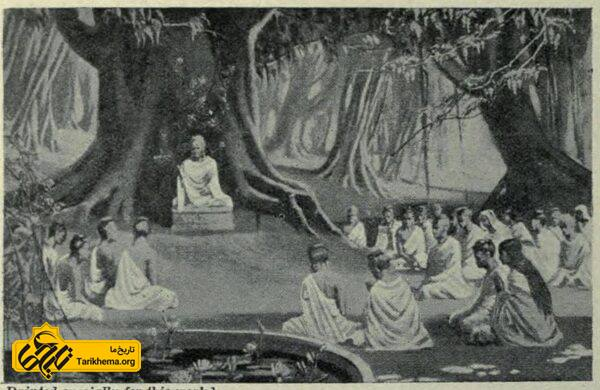 یک نقاشی کهن از آخرین تعلیم بودا   تاریخ ما