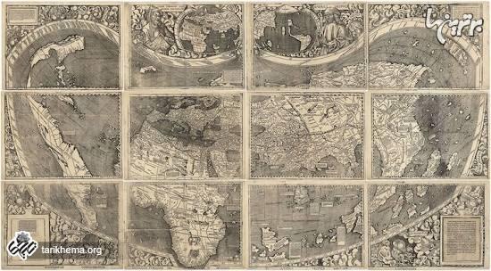 تنها کپی باقیمانده از اولین نقشه جهان بعد از کشف آمریکا