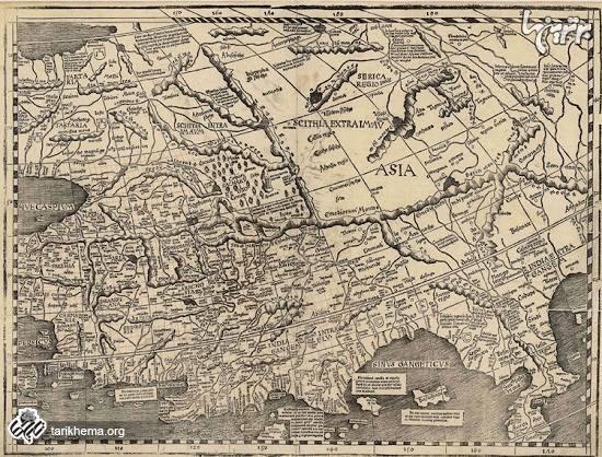 اولین نقشه جهان بعد از کشف آمریکا