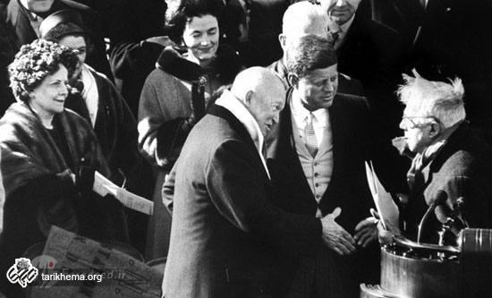 تصاویری بسیار زیبا تاریخی از مراسم تحلیف جان اف. کندی
