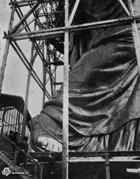 رونمایی از سر مجسمه آزادی
