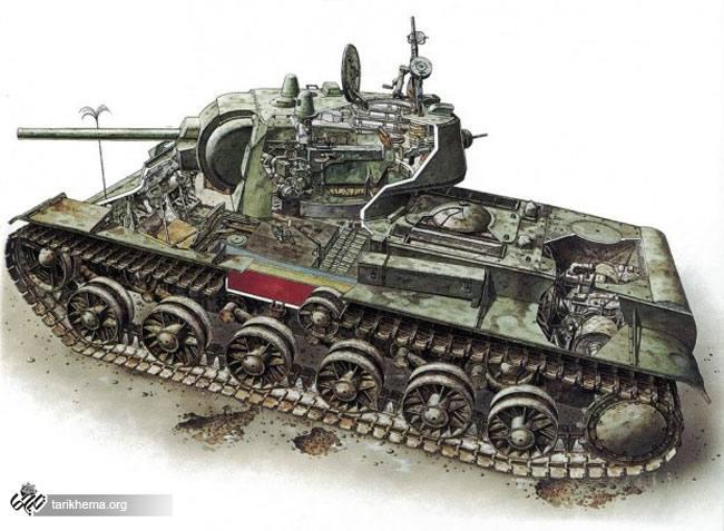 تانک سنگین KV1 اختراع نظامی شوروی سابق