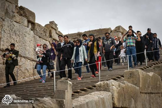 تصاویری از مجموعه میراث جهانی تخت جمشید در ایام نوروز