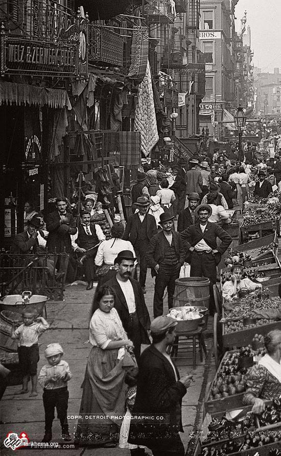 بازار دستفروش ها در 115 سال قبل