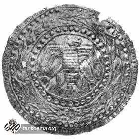 مدل زرین با نقش شاهین شهیر گشوده از دوره هخامنشیان (سده پنجم پیش از میلاد) موزه بریتانیا