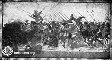 موزائیک از پمپئی که جنگ داریوش سوم و اسکندر مقدونی را در ایسوس نشان میدهد (موزه ناپل)