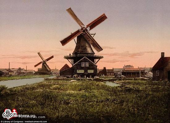 تصاویر تاریخی از مناظر هلند در قرن نوزدهم