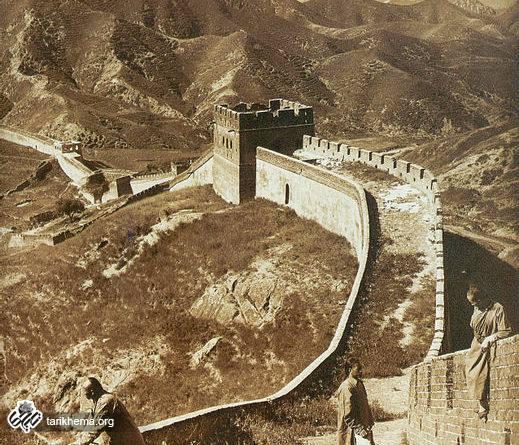 تصویری از دیوار چین در سال ۱۹۰۷ (میلادی)
