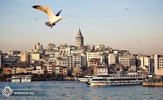 نمایی زیبا از استانبول و پرواز پرندگان