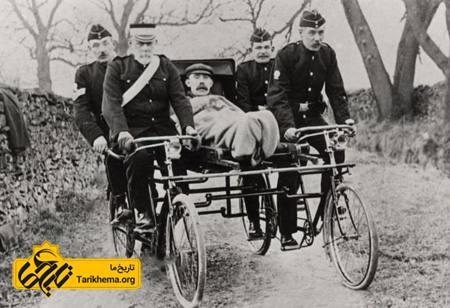 امداد و آمبولانس در 140 سال پیش
