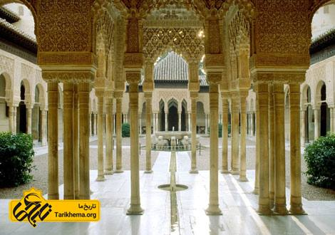 عکس تصاویر قصر الحمرا,معماری قصر الحمرا %da%a9%d8%a7%d8%ae-%d8%a7%d9%84%d8%ad%d9%85%d8%b1%d8%a7 Tarikhema.org