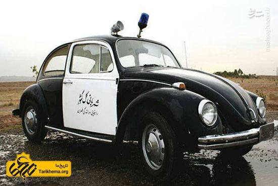 تصاویری جالب از اولین خودروهای پلیس در ایران