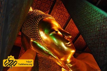 عکس معبد, معبد Wat Pho, معبد بودای خوابیده %d9%85%d8%b9%d8%a8%d8%af-%d8%a8%d9%88%d8%af%d8%a7%db%8c-%d8%ae%d9%88%d8%a7%d8%a8%db%8c%d8%af%d9%87 Tarikhema.org