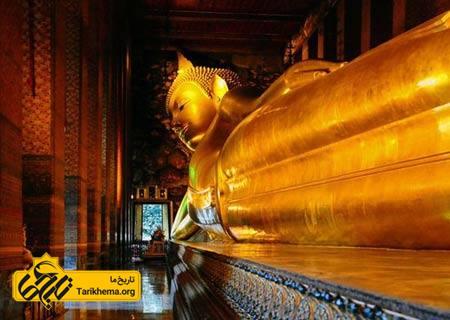 عکس معبد,مکانهای تاریخی تایلند, معبد بودای خوابیده %d9%85%d8%b9%d8%a8%d8%af-%d8%a8%d9%88%d8%af%d8%a7%db%8c-%d8%ae%d9%88%d8%a7%d8%a8%db%8c%d8%af%d9%87 Tarikhema.org