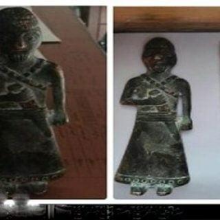 کشف پیکره فلزی باستانی متعلق به دوران ماد