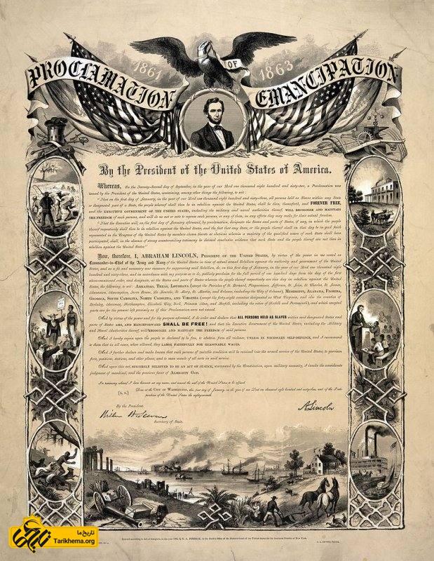 انتشار اعلامیه آزادی بردگان