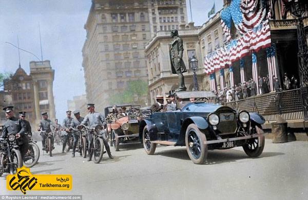 تصاویر رنگی 100 سال پیش نیویورک