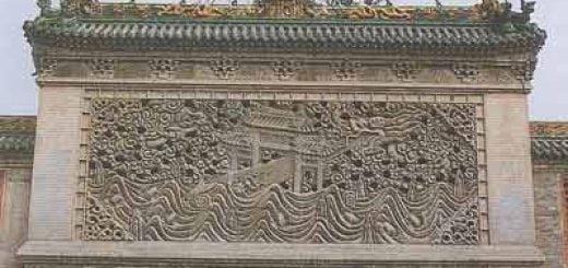 حجاری و دیوارهای تزئینی در معماری چین باستان