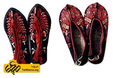 کفشهای گلدوزی شده متعلق به زنان چین باستان