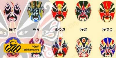 معنی رنگها در انواع گریم اپرای چین