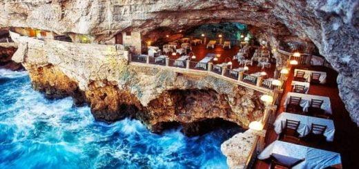 رستوران صخرهای ایتالیا
