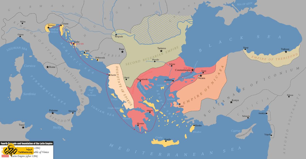 سلسله آنژلوس (۱۲۰۴-۱۱۸۵ میلاد)