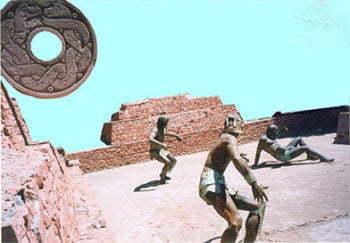 سنت بازی توپی آزتک ها (آلامیلیزتلی - Ullamaliztli)
