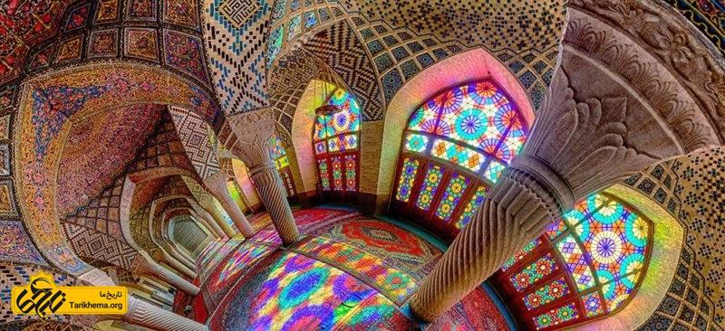 مسجد نصیرالملک شیراز، تلفیقی از نور و رنگ