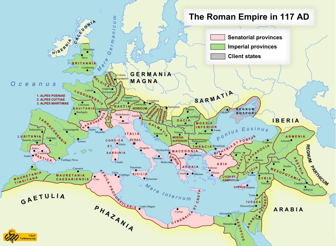 عکس نقشه امپراتوری روم در اوایل قرن دوم %d8%b9%d9%88%d8%a7%d9%85%d9%84-%d9%85%d9%88%d8%ab%d8%b1-%d8%af%d8%b1-%d8%aa%d8%ac%d8%b2%db%8c%d9%87-%d8%a7%d9%85%d9%be%d8%b1%d8%a7%d8%b7%d9%88%d8%b1%db%8c-%d8%b1%d9%85-%d9%88-%d8%b4%da%a9%d9%84 Tarikhema.org