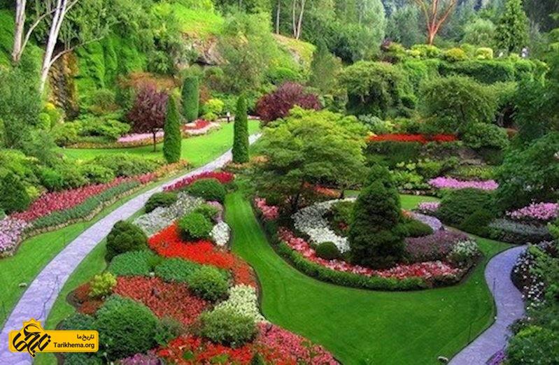 پوشش گیاهی بی نظیر در باغ گلهای اصفهان
