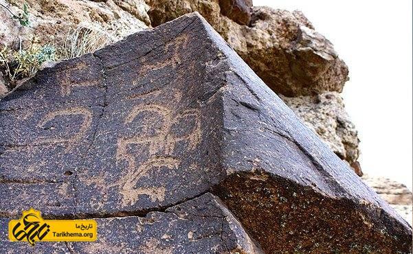 حکاکی یافت شده در روستای میمند